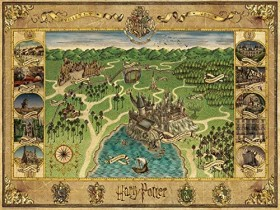 Ravensburger Puzzle Hogwarts Karte (16599)