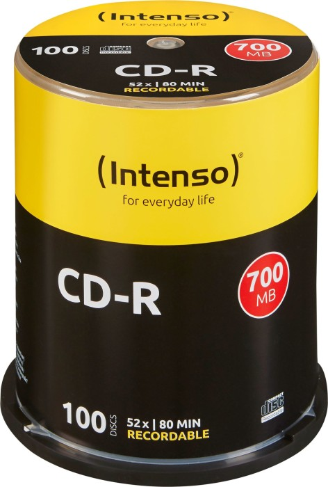 Intenso CD-R 80min/700MB 52x, 100-pack Spindle (1001126)