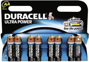 Duracell Ultra Power Mignon AA LR6, alkali, 1.5V, 8-pack