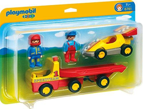 playmobil - 1.2.3 - Rennauto mit Transporter (6761) -- via Amazon Partnerprogramm