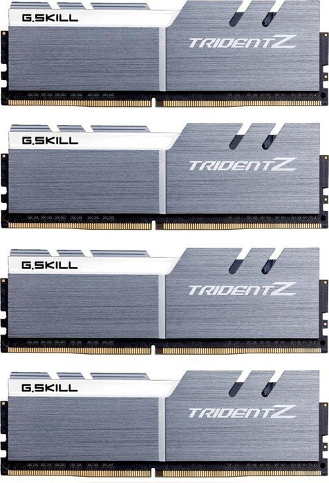 G.Skill Trident Z silber/weiß DIMM Kit 32GB, DDR4-3200, CL14-14-14-34 (F4-3200C14Q-32GTZSW)