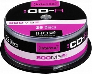 Intenso CD-R 90min/800MB 52x, 25-pack Spindle (1001134)