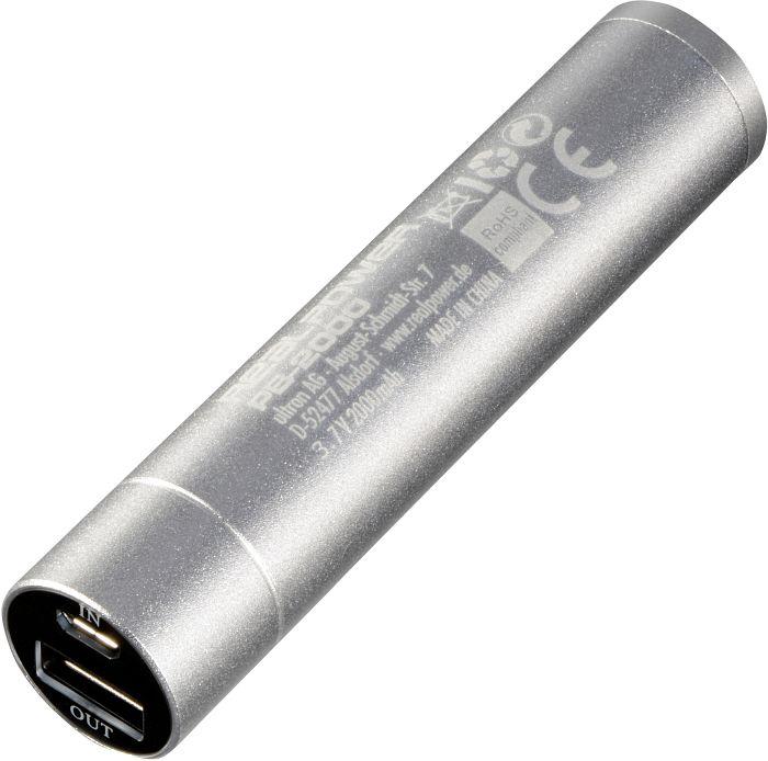 Ultron Powerbank RealPower PB-2000 silber (116314)