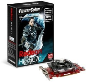PowerColor Radeon HD 5670, 512MB GDDR5, VGA, DVI, HDMI (AX5670 512MD5-H/R83FO-TE3)