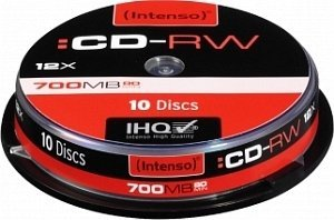 Intenso CD-RW 80min/700MB 12x, 10-pack Spindle (2801122)