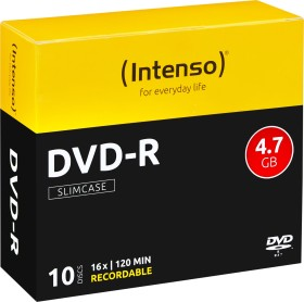 Intenso DVD-R 4.7GB 16x, 10er Slimcase (4101652)