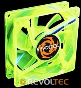 Revoltec UV-Sensitiv grün, 80mm