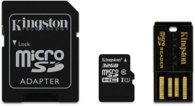 Kingston microSDHC 32GB Kit, Class 10 (MBLY10G2/32GB)