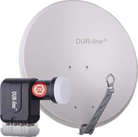 Dura-Sat Dur-line Select 75 G + Ultra Oct LNB - 8 Teilnehmer Set, hellgrau (12365)