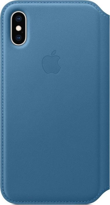 Apple Leder Folio Case für iPhone XS cape cod blau (MRX02ZM/A)
