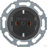 Berker Serie 1930/Glas/R.classic SCHUKO Steckdose, schwarz glänzend (474521)