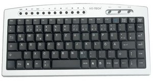 MS-Tech LT-300U Mini Keyboard, PS/2
