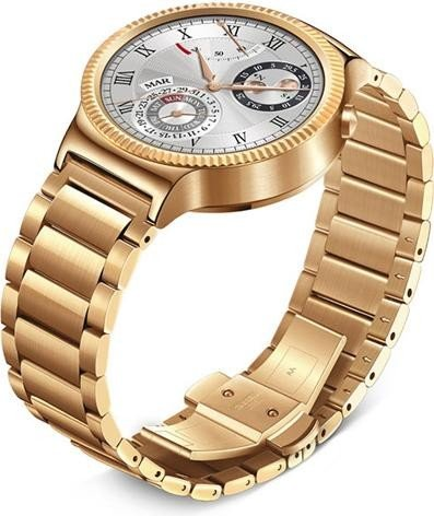Huawei Watch Elite mit Gliederarmband gold
