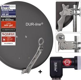 Dura-Sat Dur-line Select 75 G + Ultra Oct LNB - 8 Teilnehmer Set, anthrazit (12366)