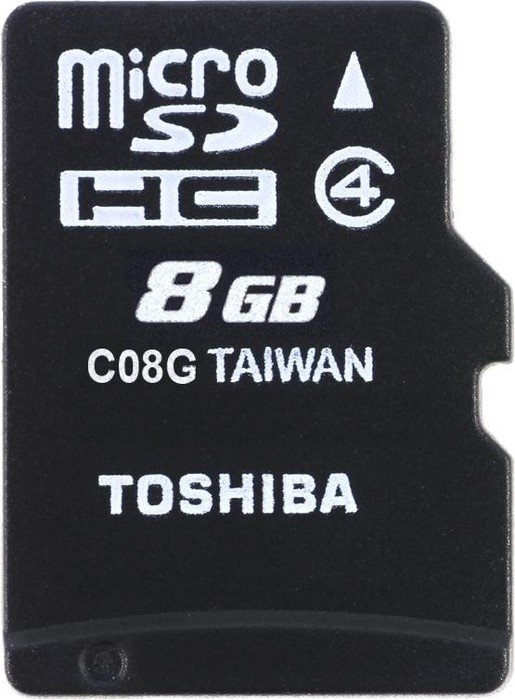 Toshiba M102 microSDHC 8GB, Class 4 (THN-M102K0080M4)