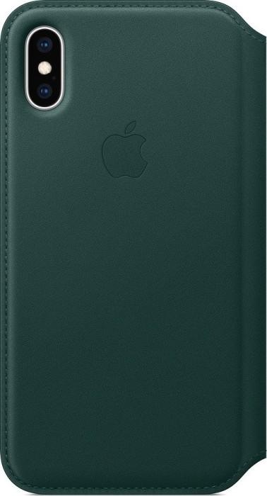 Apple Leder Folio Case für iPhone XS waldgrün (MRWY2ZM/A)
