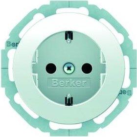 Berker Serie R.classic SCHUKO Steckdose, polarweiß glänzend (47452089)