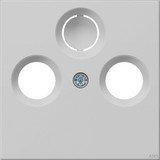 Gira System 55 Abdeckung für Koaxial-Antennensteckdose, grau matt (0869 015)