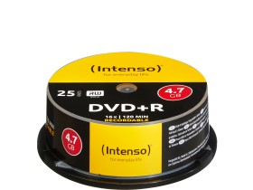 Intenso DVD+R 4.7GB 16x, 25-pack Spindle (4111154)