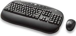 Logitech OEM Cordless Internet Pro Desktop czarny, USB, DE (967461-0102)