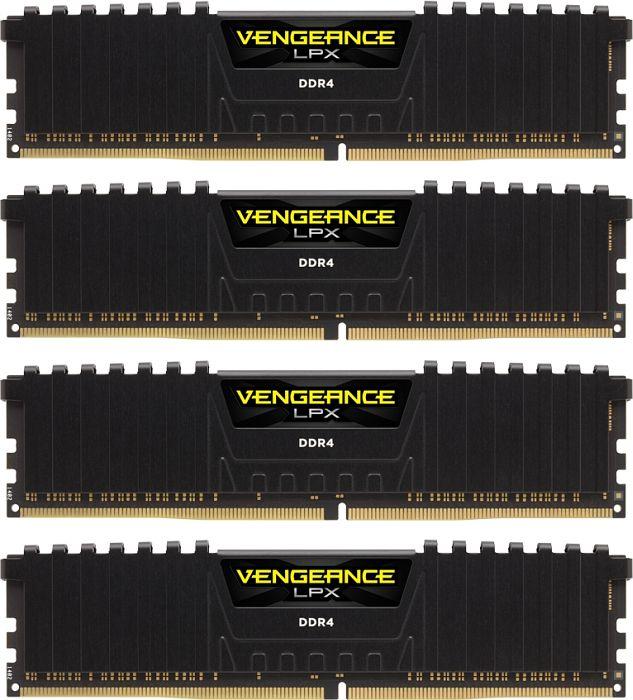 Corsair Vengeance LPX black DIMM kit 32GB, DDR4-2400, CL16-16-16-39 (CMK32GX4M4A2400C16)