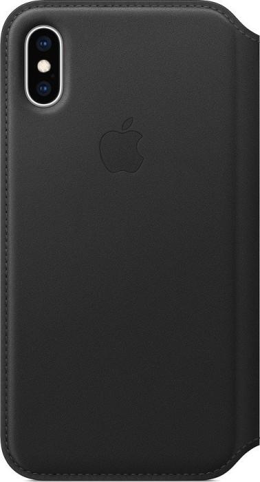 Apple Leder Folio Case für iPhone XS schwarz (MRWW2ZM/A)