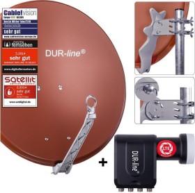 Dura-Sat Dur-line Select 75 G + Ultra Oct LNB - 8 Teilnehmer Set, rot (12367)