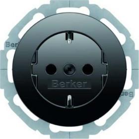Berker Serie R.classic SCHUKO Steckdose, schwarz glänzend (47452045)