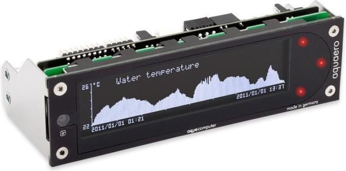 "Aqua Computer aquaero 5 PRO schwarz, 5.25"" Pumpen- und Lüftersteuerung 4-Kanal (53252)"