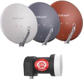 Dura-Sat Dur-line Select 75 G + Ultra Single LNB - 1 Teilnehmer Set, hellgrau (12350)