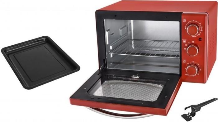 Efbe Schott TKG OT 2500 Retrodesign rot Mini-Backofen