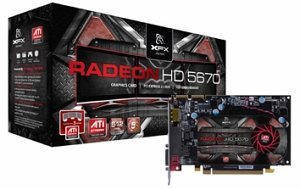 XFX Radeon HD 5670, 1GB GDDR5, DVI, HDMI, DP (HD-567X-ZNF3)