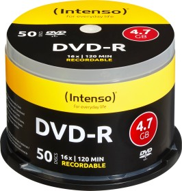 Intenso DVD-R 4.7GB 16x, 50-pack Spindle (4101155)