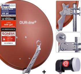 Dura-Sat Dur-line Select 75 G + Ultra Single LNB - 1 Teilnehmer Set, anthrazit (12351)