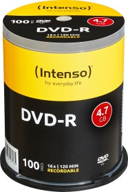 Intenso DVD-R 4.7GB 16x, 100-pack Spindle (4101156)