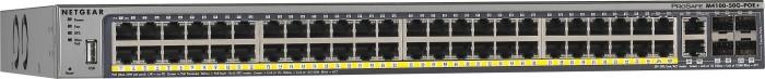 Netgear ProSAFE M4100 Rackmount Gigabit Managed Switch, 46x RJ-45, 4x RJ-45/SFP, PoE+ (M4100-50G-POE+/GSM7248P-100)