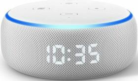 Amazon Echo Dot (Rev. 3) mit Uhr weiß