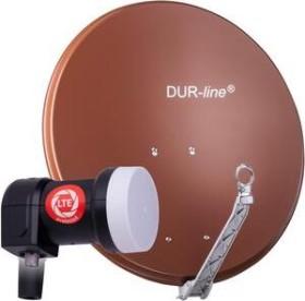 Dura-Sat Dur-line Select 75 G + Ultra Single LNB - 1 Teilnehmer Set, rot (12352)