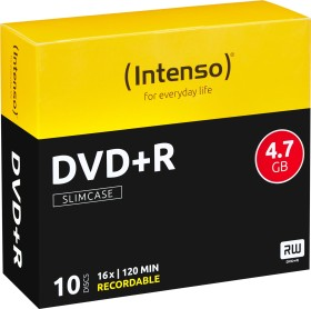 Intenso DVD+R 4.7GB 16x, 10-pack Slimcase (4111652)