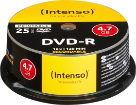 Intenso DVD-R 4.7GB 16x, 25-pack Spindle printable (4801154)