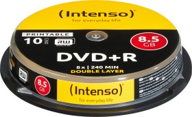 Intenso DVD+R 8.5GB DL 8x, 10-pack Spindle printable (4381142)