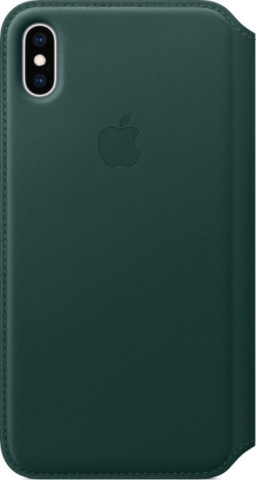 newest bca0b 228a5 Apple iPhone XS Max Leather Folio Forest Green (MRX42ZM/A)