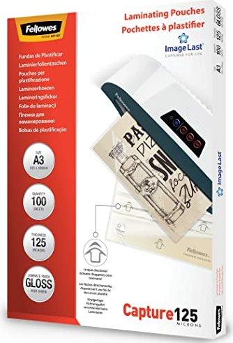 Fellowes Laminierfolie A3, 2x 125 micron, glänzend, 100 Stück (53075) -- via Amazon Partnerprogramm