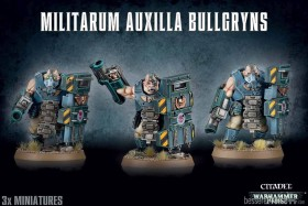 Games Workshop Warhammer 40.000 - Astra Militarum - Auxilla Bullgryns