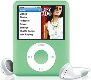 Apple iPod nano 8GB green (3G) (MB253*/A)