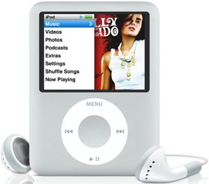 Apple iPod nano 8GB silber (3G) (MA980*/A)