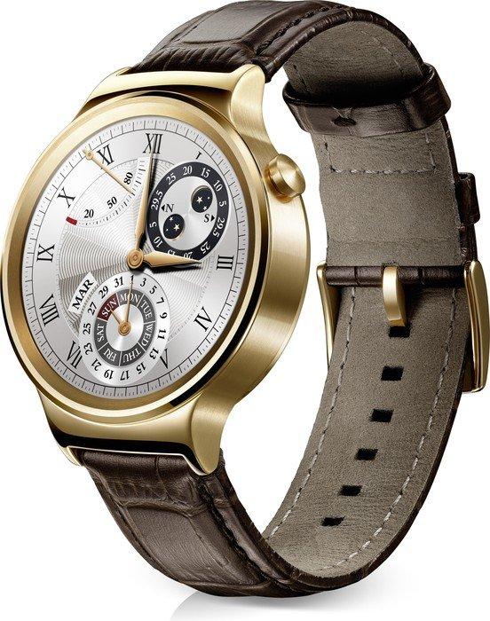 Huawei Watch Elite mit Lederarmband gold/braun