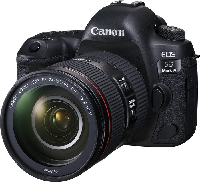 Canon EOS 5D Mark IV black with lens EF 24-105mm 4.0 L IS II USM
