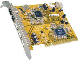 Exsys EX-6506E, 2x FireWire/3x USB 2.0, PCI