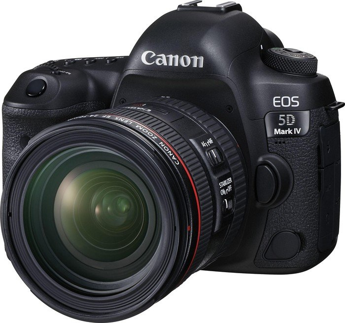 Canon EOS 5D Mark IV black with lens EF 24-70mm 4.0 L IS USM